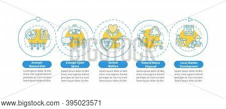 Ethical Dairy Production Vector Infographic Template. Farm Market Presentation Design Elements. Data