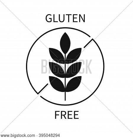 Gluten Gree Label Vector Symbol. Gluten Free Logo Icon.