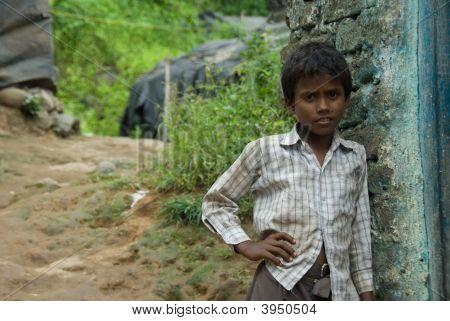 Boy Outside Of School
