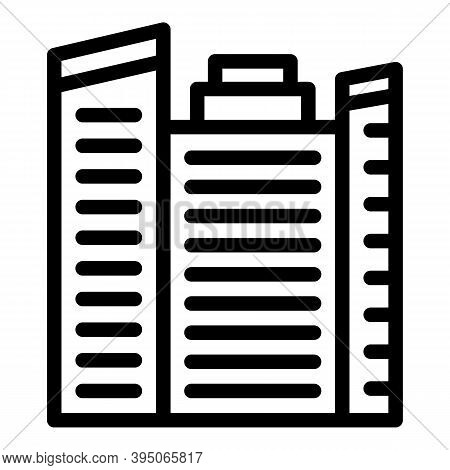 Business Tower Icon. Outline Business Tower Vector Icon For Web Design Isolated On White Background