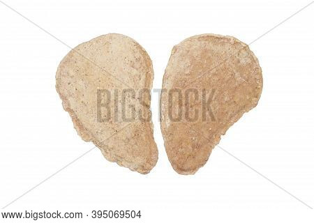 Fresh Raw Cutlets On A White Background.cutlets Frozen From Fresh Raw Minced Meat.