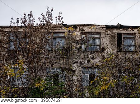 Spooky Abandoned House Among The Trees In Chernobyl Ukraine