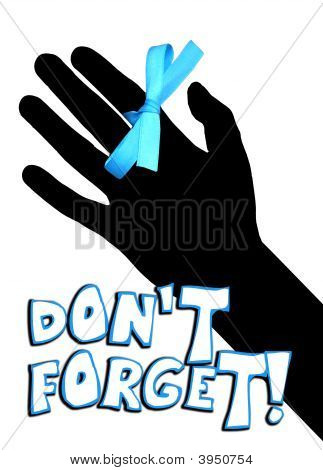 Don'T Forget Hand With Ribbon