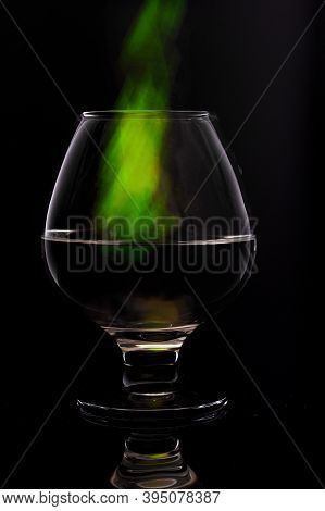 Chemical Evaporation From Glass. Green Evaporation From Glass.
