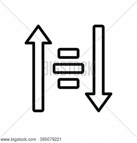 Black Line Icon For Sort Filter Arrow Descending Down Direction Ascending Alignment Category Classif