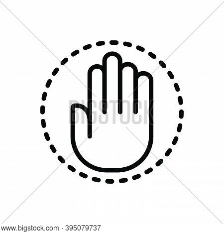 Black Line Icon For Congressional Hand Paw Claw Democracy Government Congress Sign Parliamentary Sen
