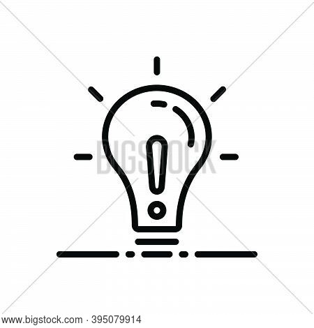 Black Line Icon For Except Lightbulb Concept Creativity Object Exclude Denigration