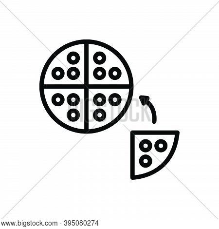 Black Line Icon For Division Partition Separation Part Slice Piece Breakup Distribution