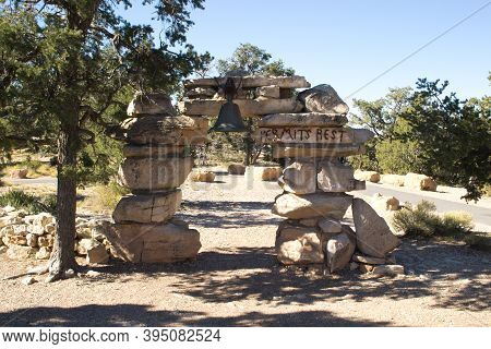 Grand Canyon, United States, November 2013: Hermits Rest Is A Structure Built In 1914 At The Western
