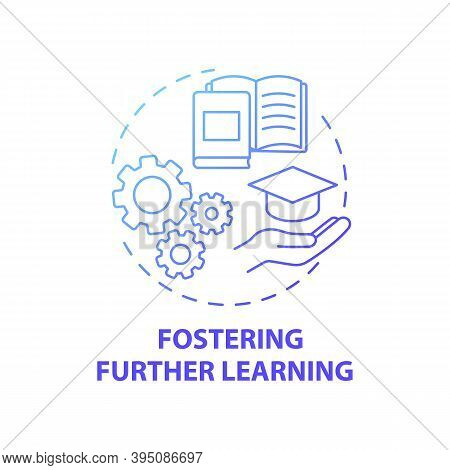 Fostering Further Learning Concept Icon. Business Consulting Stage Idea Thin Line Illustration. Incr