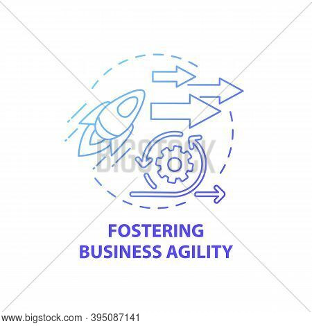 Fostering Business Agility Concept Icon. Business Consulting Task Idea Thin Line Illustration. Custo