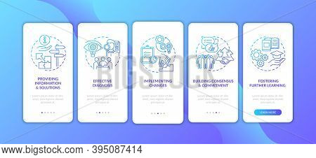 Business Consulting Onboarding Mobile App Page Screen With Concepts. Providing Solutions, Building C