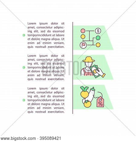 Farm Produce Marketing Concept Icon With Text. Agricultural Sale. Provision Distribution. Ppt Page V