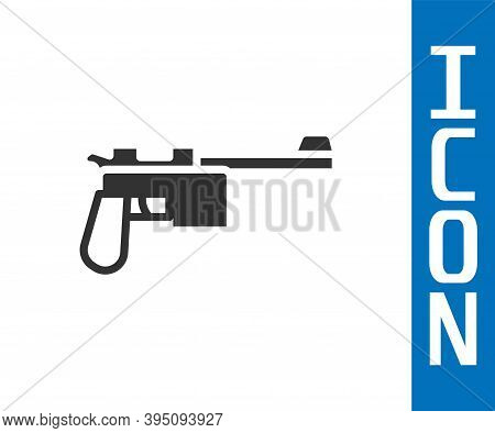 Grey Mauser Gun Icon Isolated On White Background. Mauser C96 Is A Semi-automatic Pistol. Vector