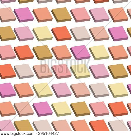 Color Mosaic Tiles. Texture Background. Tiles Made Of Mosaic 3d
