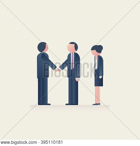 Business Inequality Issue Vector Concept. Unfair And Unequal Treatment Of Women In Careers, Promotio