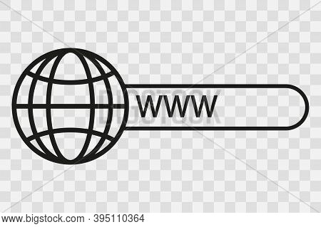 Website Icon On Transparent Backgrond. Search Iocn. Vector Illustration.