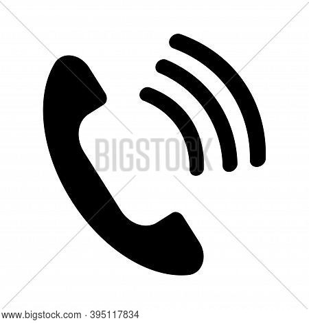 Cell Phone Icon Vector.black Phone. Vector Illustration.