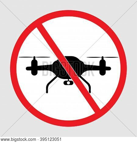 No Drone Zoon Icon. Stop Sign Icon.no Fly .