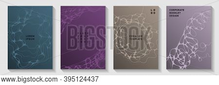 Gorgeous Disco Party Posters. Liquid Waves Tissue Backdrops. Openwork Magazine Vector Layouts. Disco
