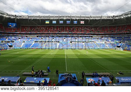Lyon, France - June 16, 2016: Stade De Lyon Stadium (parc Olympique Lyonnais Stadium) Before The Uef