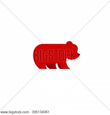 Brown Grizzly Bear Logo Icon Animal Clean Simple Rounded Symbol