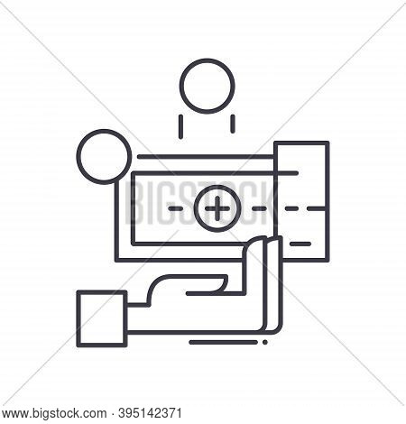 Roi Icon, Linear Isolated Illustration, Thin Line Vector, Web Design Sign, Outline Concept Symbol Wi