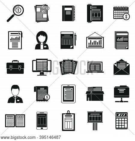 Cost Estimator Icons Set. Simple Set Of Cost Estimator Vector Icons For Web Design On White Backgrou