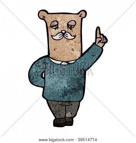 father bear cartoon poster