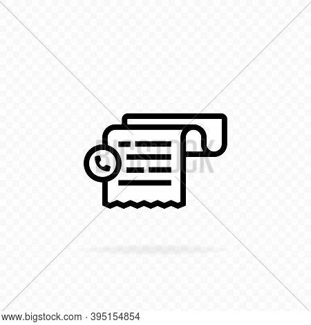 Cashier Receipt Icon. Phone Bill Receipt Icon. Invoice Icon. Hand Holding A Receipt Bill. Pay Bill I