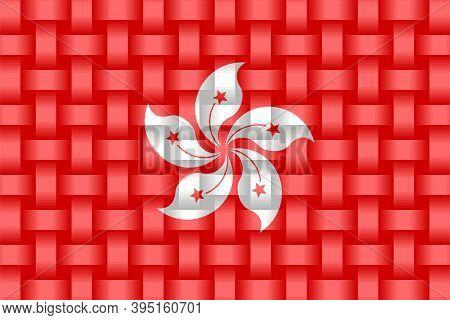 Hong Kong Flag Background - Illustration,  Three Dimensional Flag Of Hong Kong