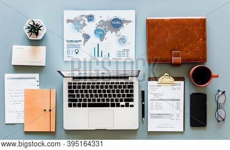 Flat lay of business concept