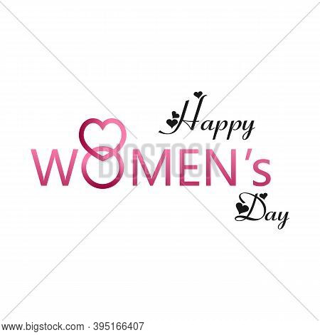 Creative 8 March Logo Vector Design With International Womens Day Icon.womens Day Symbol.minimalisti