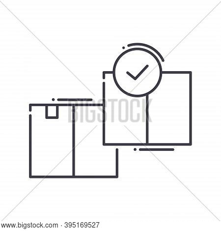 Production Choice Icon, Linear Isolated Illustration, Thin Line Vector, Web Design Sign, Outline Con