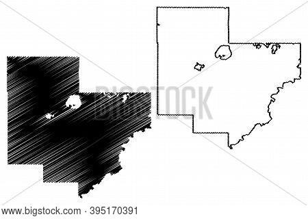 Carver County,  Minnesota (u.s. County, United States Of America, Usa, U.s., Us) Map Vector Illustra