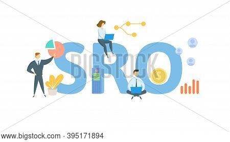 Sro, Self-regulatory Organization. Concept With Keywords, People And Icons. Flat Vector Illustration