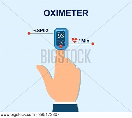 Oximeter On Finger. Measurement Of Pulse And Saturation Of Blood With Oxygen. Medical Equipment, Car
