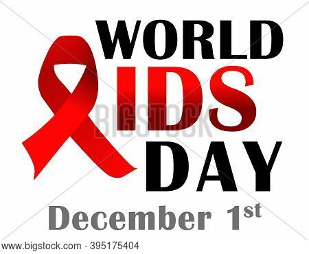 World Aids Day December 1 Banner Or Poster Vector Design