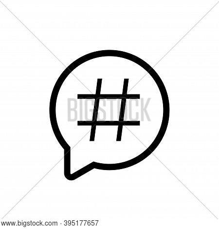 Hashtag Icon, Social Media Hash Tag Symbol Flat Popular Blog Isolated Illustration