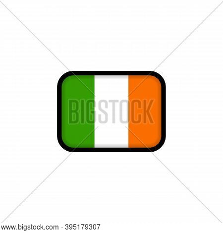 Flag Of Ireland. National Ireland Flag. Irelandian Symbol. Vector Illustration. Eps10