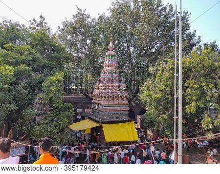 Tuljapur , Maharashtra / India- December 20th 2019 ;inside View Of Famous Temple In Maharashtra Tulj