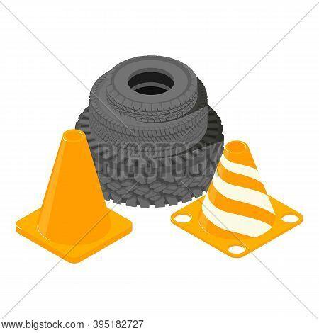 Automotive Safety Icon. Isometric Illustration Of Automotive Safety Vector Icon For Web