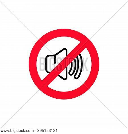 No Sound Sign. Silent Mode Icon. Vector On Isolated White Background. Eps 10