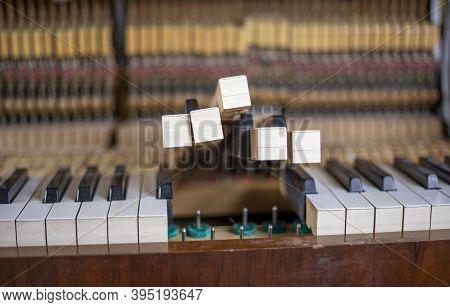 Collect Piano Keys, Piano Tuning, Tuner, Musical., Horizontal,