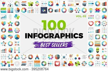 100 Best-selling Infographic Templates. Part 2. Perfect For Any Purpose From Presentation Or Web Ele