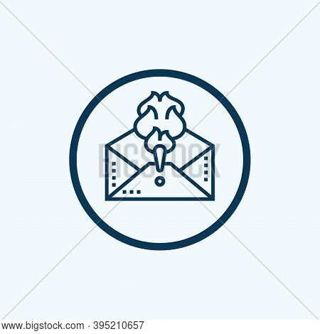 Email Spam, Vector Icon. Envelope With Spam. Email Box Hacking, Spam Warning