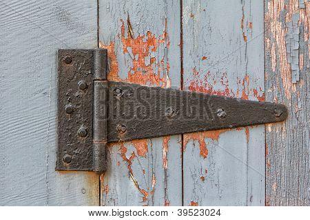 Close Up Of Antique Barn Hinge