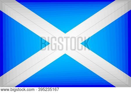 Scotland Gradient Flag - Illustration,  Three Dimensional Flag Of Scotland