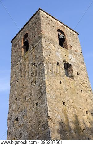 Poggibonsi Is A Village In Tuscany, Italy. St, Peter Steeple