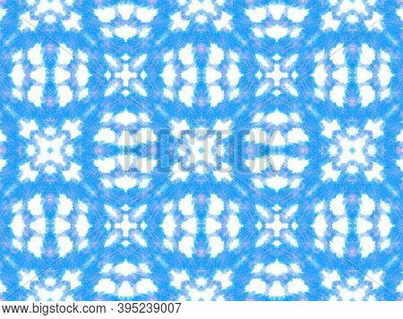 Seamless Cobra Pattern. Blue And White Colors. Serpent Or Phyton Wild Surface. Trendy Zoo Background